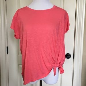 Calvin Klein Coral colored top Large